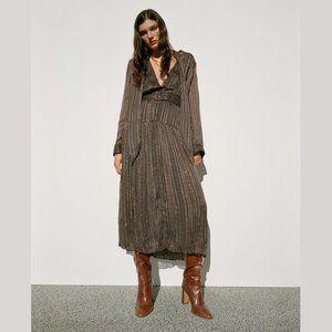 ZARA Belted Midi Dress